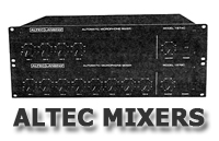 Altec Mixer Section