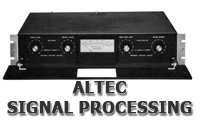 Altec Signal Processing sections